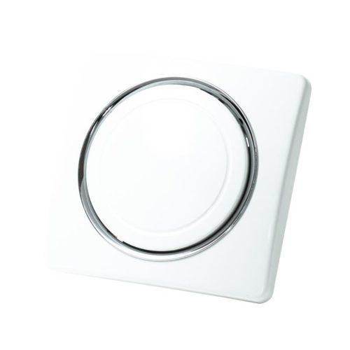 Saugdose Royal. Quadratische Form mit runde Kanten. eine dünne Linie mit Silber oder einer anderen Farbe um den runden Deckel.