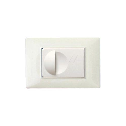 Saugdose Universal inkl. Vimar Rahmen. Weiß. Erhältlich auch in zwei andere Farben.