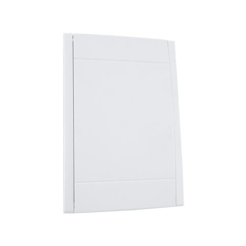 """Weiße Saugdose für Schlaucheinzugssystem """"In The Wall"""". Geöffnet von kurzer Seite aus."""