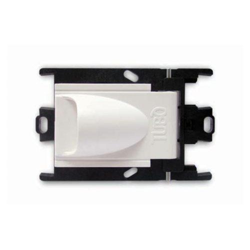 Die seitlich geöffnete Saugsteckdose New Air Color passt für zentrale Staubsaugeranlagen. Der sichtbare Teil ist weiß und die versteckte Rahmen sind schwarz. Andere Farben für der sichtbare Teil: schwarz und silber.