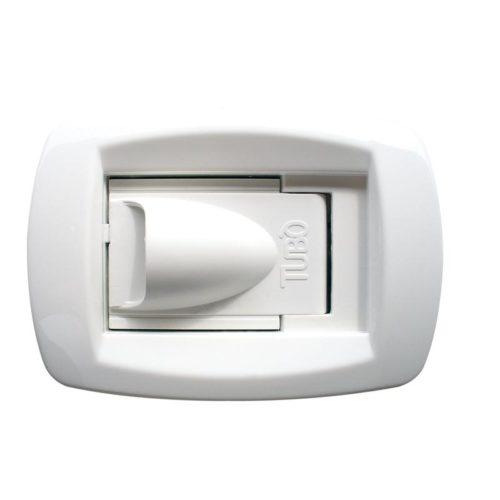 Saugdose Sirio NEW AIR ist formschöne, original Tubo Saugdose. Öffnungsrichtung: seitlich. Farbe: weiß.