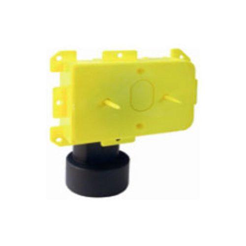 """Gelber Unterputzteil für Saugdosen """"Logik"""", """"Sirio New Air"""", """"New Air Color"""". Mit 90° Sicherheitsbogen oder geradem Anschluss. Lieferung inklusive Verputzdeckel."""