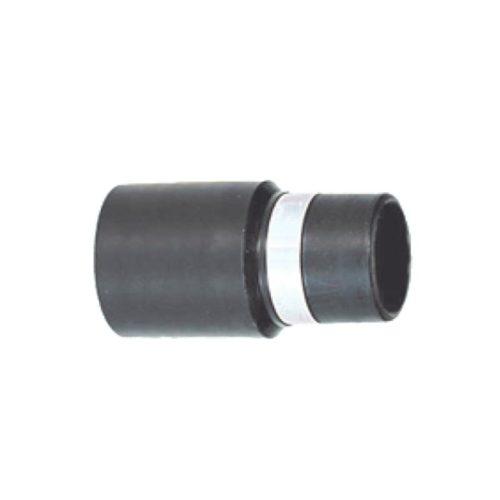 Kontaktmuffe für Verlängerungsschlauch. Diese Muffe wird für Verlängerungs-Schläuche verwendet und stellt den Kontakt zur Staubsaugeranlage her. Schwarze Muffe aus Kunststoff.