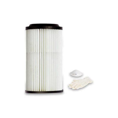 Polyesterfilter Filterpatrone für Tubo Linie Studio TS. Inklusive Atemschutzmaske und Einweghandschuhe.