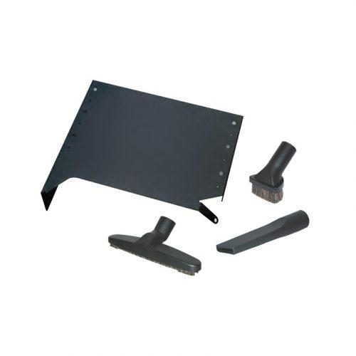 VROOM Garagen -Montageset inklusive Decken- bzw. Wandhalterung für Vroom, Hartbodendüse 25 cm, Möbelbürste, Fugendüse.